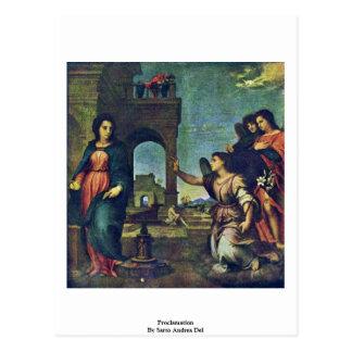 Proclamación de Sarto Andrea Del Postales