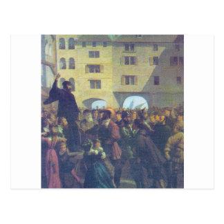 Proclamación del evangelio en el mercado tarjetas postales