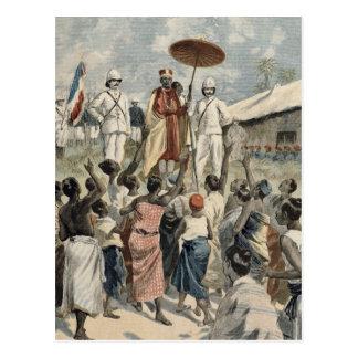 Proclamación del nuevo rey de Dahomey Postal