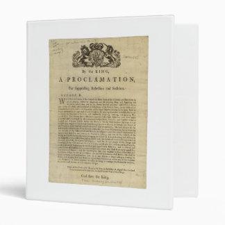 """Proclamación del rey para suprimir la rebelión carpeta 1"""""""
