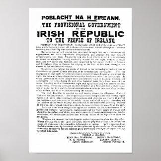 Proclamación irlandesa de 1916 póster