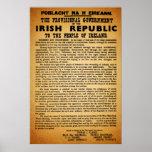 Proclamación irlandesa Pascua 1916 de la reimpresi Póster
