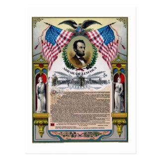 Proclamación única de la emancipación de Lincoln Postales