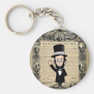 Proclamación y Abe honesto Lincoln de la emancipac Llavero Redondo Tipo Pin