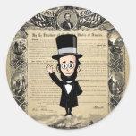 Proclamación y Abe honesto Lincoln de la emancipac Etiqueta