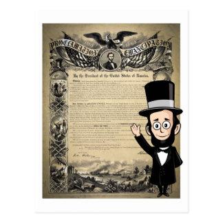 Proclamación y Abe honesto Lincoln de la Tarjeta Postal
