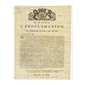 Proclamation by the King for Suppressing Rebellion Canvas Print