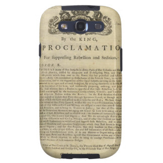 Proclamation by the King for Suppressing Rebellion Galaxy S3 Cases