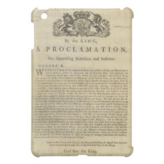 Proclamation by the King for Suppressing Rebellion iPad Mini Cases
