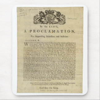 Proclamation by the King for Suppressing Rebellion Mousepads