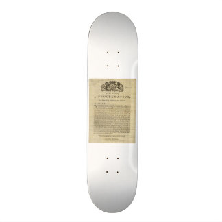 Proclamation by the King for Suppressing Rebellion Skateboard Decks