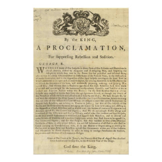 Proclamation by the King for Suppressing Rebellion Stationery