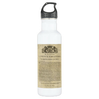Proclamation by the King for Suppressing Rebellion Water Bottle