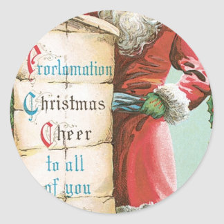 Proclamation Christmas Cheer to all of you Classic Round Sticker