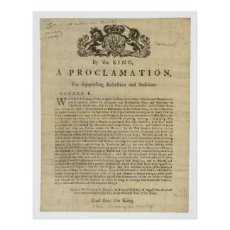 Proclamation for Suppressing Rebellion & Sedition Poster