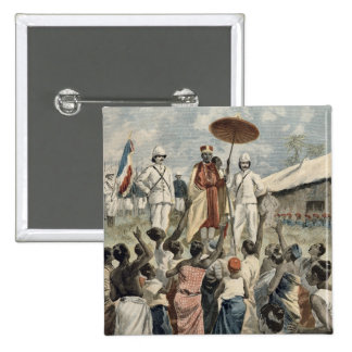 Proclamation of the New King of Dahomey 2 Inch Square Button