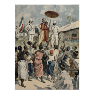Proclamation of the New King of Dahomey Poster