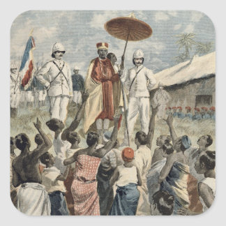 Proclamation of the New King of Dahomey Square Sticker
