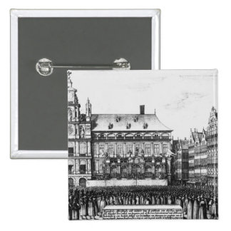 Proclamation of the peace 2 inch square button