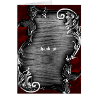 Proclimation Gothic Vampire Thank You Stationery Note Card