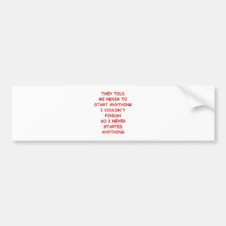 procrastinate bumper sticker