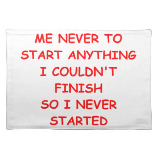 procrastinate cloth placemat