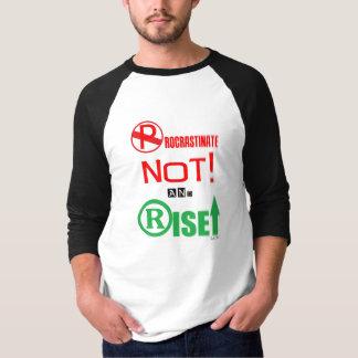 Procrastinate Not! 3/4 Sleeve Raglan (Men) T-Shirt