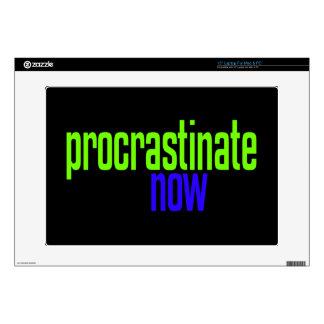 Procrastinate Now Laptop Skin