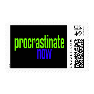 Procrastinate Now Stamps