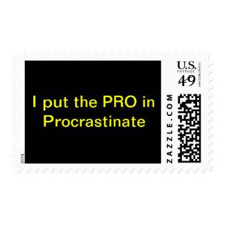 Procrastinate Postage