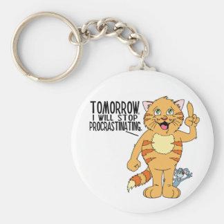 Procrastinating Cat Key Chains
