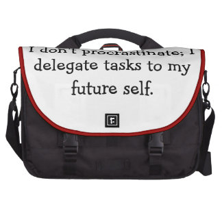Procrastination Computer Bag