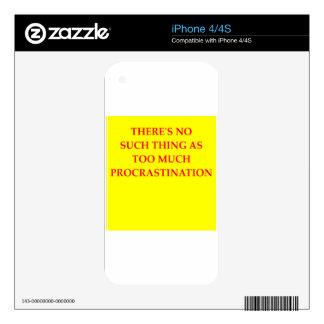 procrastination decals for iPhone 4