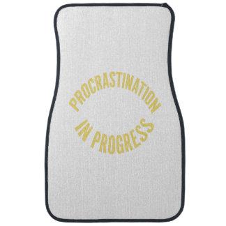 Procrastination in Progress - Customize Background Car Floor Mat