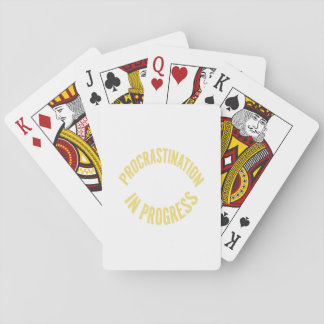 Procrastination in Progress - Customize Background Playing Cards