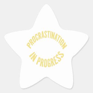 Procrastination in Progress - Customize Background Star Sticker