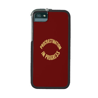 Procrastination in Progress - Red Background Color iPhone 5/5S Case