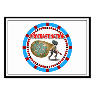 Procrastination is the Thief of Time Large Business Card