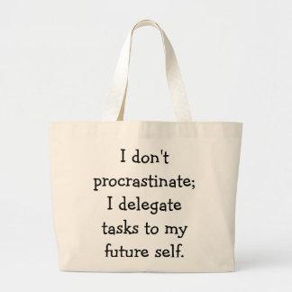 Procrastination Jumbo Tote Bag