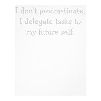 Procrastination Letterhead