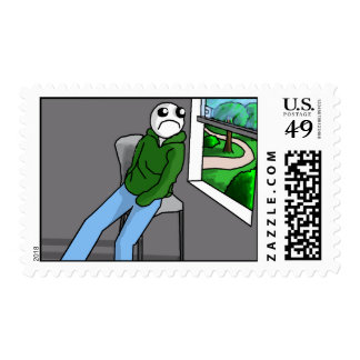 procrastination postage stamp