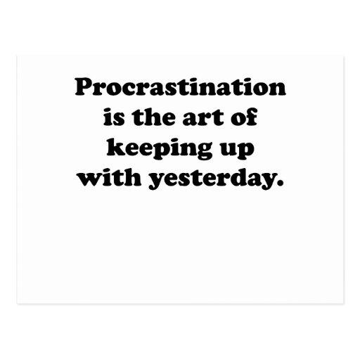Procrastination Postcards