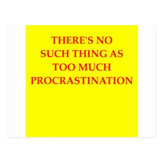 procrastination postcard