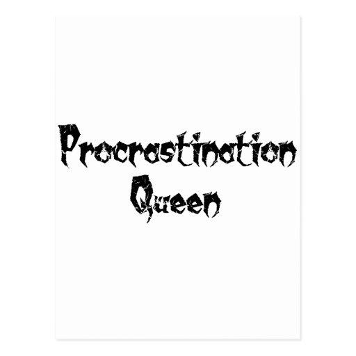 Procrastination Queen Postcard