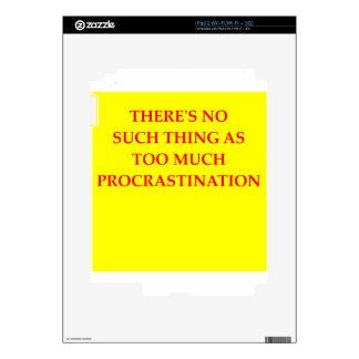 procrastination skin for the iPad 2