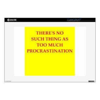 """procrastination skins for 15"""" laptops"""