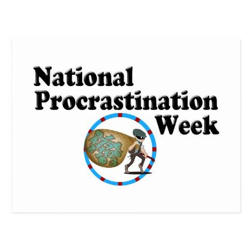 Procrastination Week Post Cards