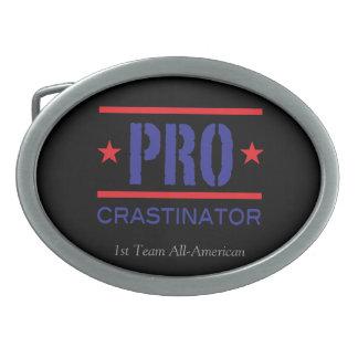 PROcrastinator_1st Team All-American Oval Belt Buckle
