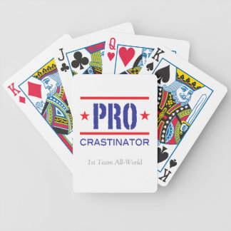 Procrastinator_1st Team All-World Bicycle Playing Cards
