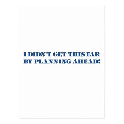 Procrastinator (blue) postcard